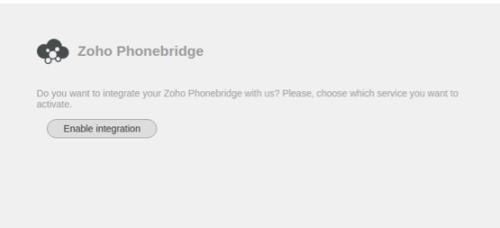 Zoho Phonebridge